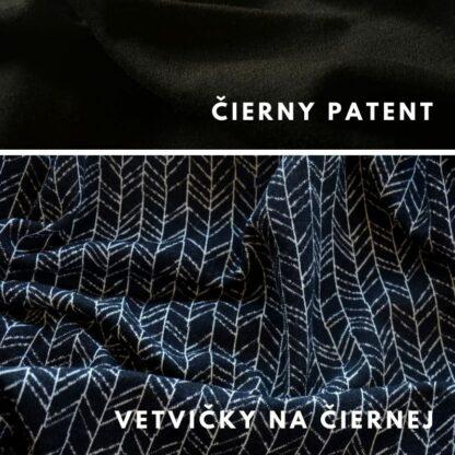 vetvičky na čiernej - čierne patenty