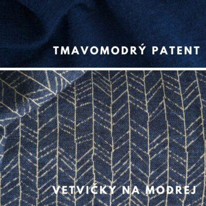 vetvičky na modrej - tmavomodré patenty