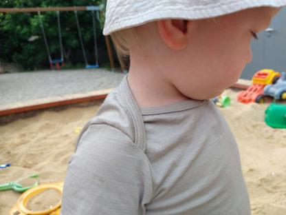 detské merino body krátky rukáv