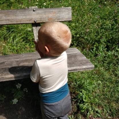 detské merino body s krátkym rukávom