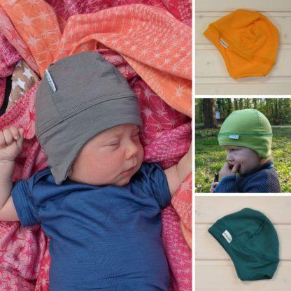 Vlnená merino čiapočka pre deti farby