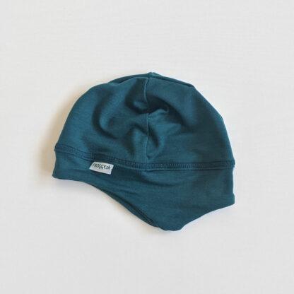 Detská čiapka z merino vlny Báb - petrolejová zelená