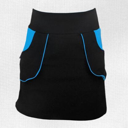 dámska elastická tepla merino sukňa