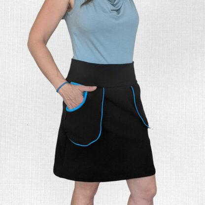 Elastická teplá sukňa z merino vlny
