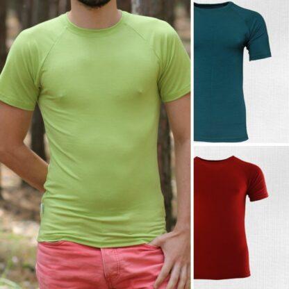 Pánske merino tričko Salatín - petrolejovo zelená