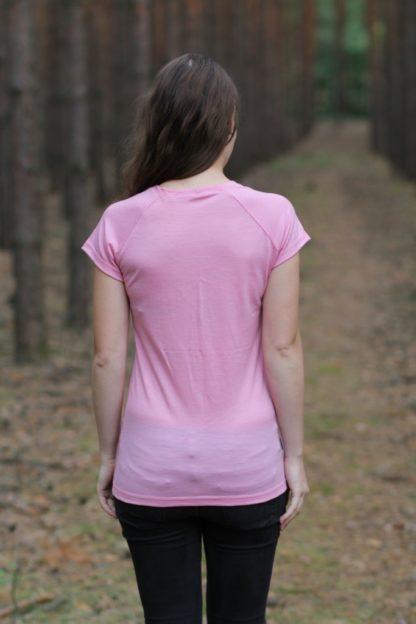 funkčné tričko merino ružové