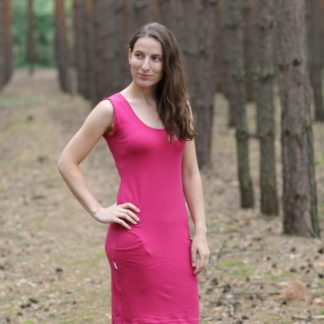 Letné šaty z merina Leváre - sýtoružová 190g