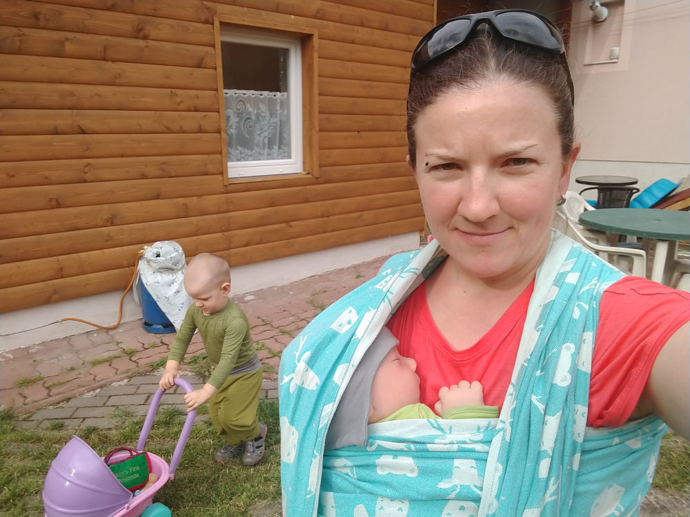 merino tričko na dojčenie v nosiči