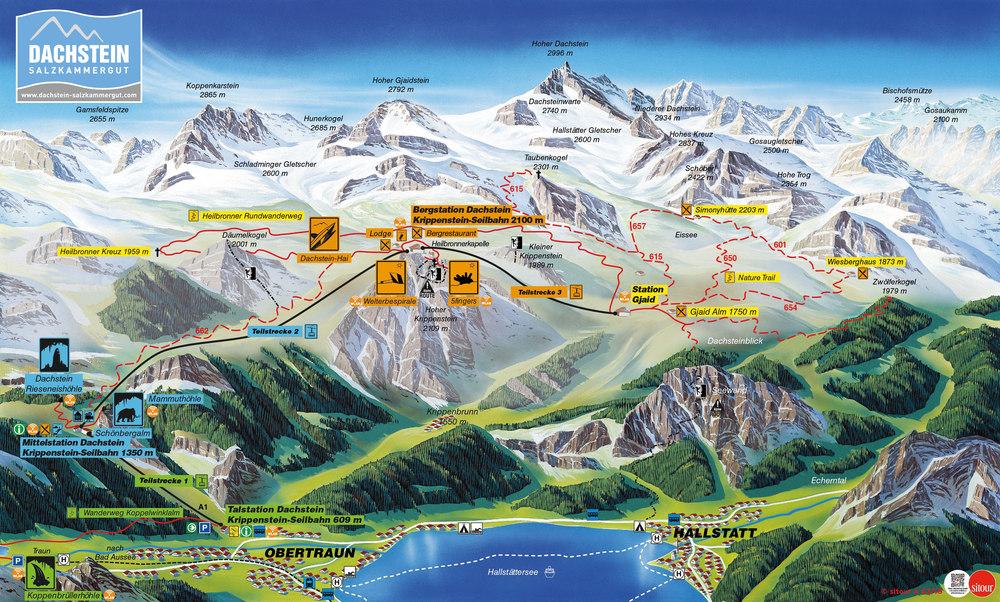 dachstein gondola map