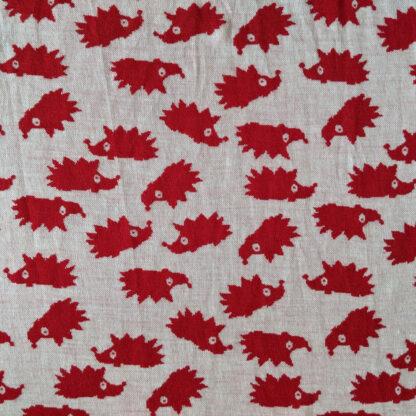 Hrubšie merino červený ježko na krémovej