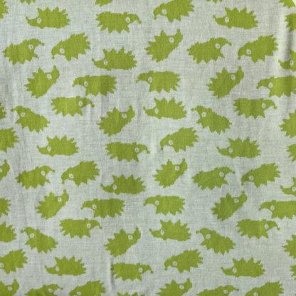 Zelení ježkovia na krémovej
