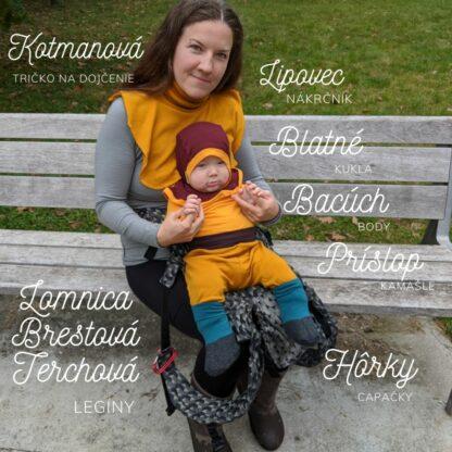 Merino oblečenie pre mamu aj dieťa