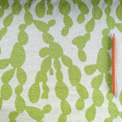 Merino vzor limetkové kaktusy