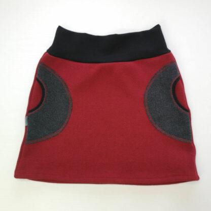 Teplá dámska sukňa z merino vlny