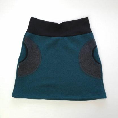 hrubá teplá sukňa z merino vlny s vreckami