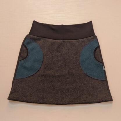 Dámska termo hrubá sukňa z merina
