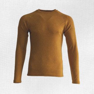 Pánske merino tričko Kunerad geo na horčicovej