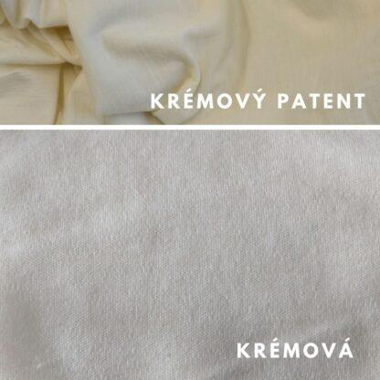 merino Natural krémová - krémový patent