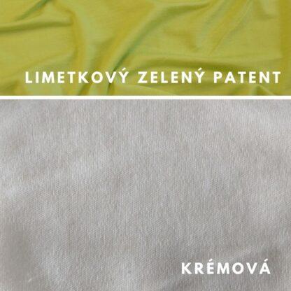 Natural krémová - limetkový zelený patent
