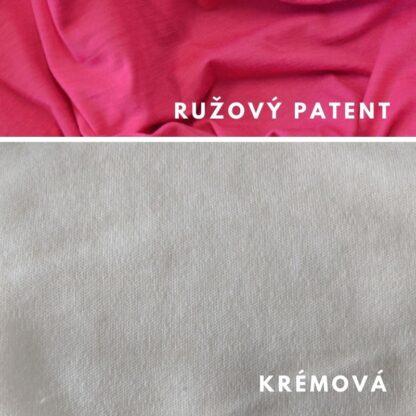 merino Natural krémová - ružový patent