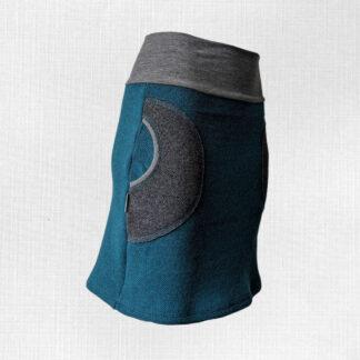 sukňa s merino vlnou áčkový strih