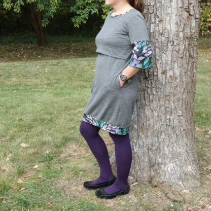 dojčiace merino šaty