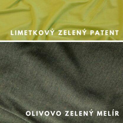 Merino kukla Blatné olivovo zelený melír - limetkový patent