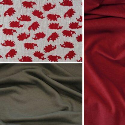 merino ježkovia červení │oceľová sivá – červený patent