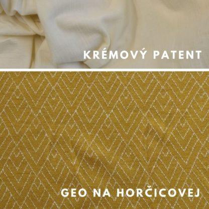 Merino kukla Geo na horčicovej - krémový patent