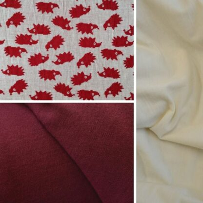 merino ježkovia červení │bordová – krémový patent