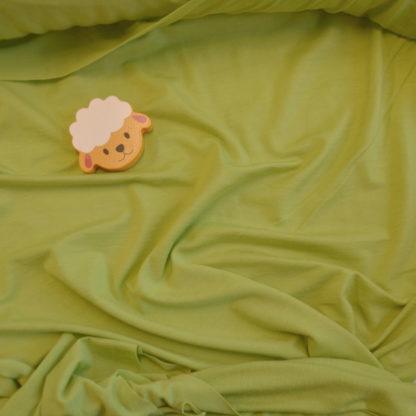 Merino elastanové - limetková zelená