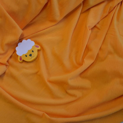 Merino elastanové - oranžožltá