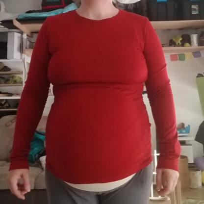 tehotenské merino tričko