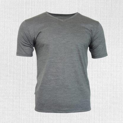 pánske merino tričko s véčkovým výstrihom