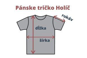 Merino tričko Holíč - miery