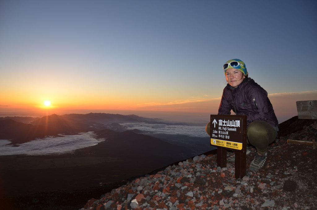 výstup na horu Fuji