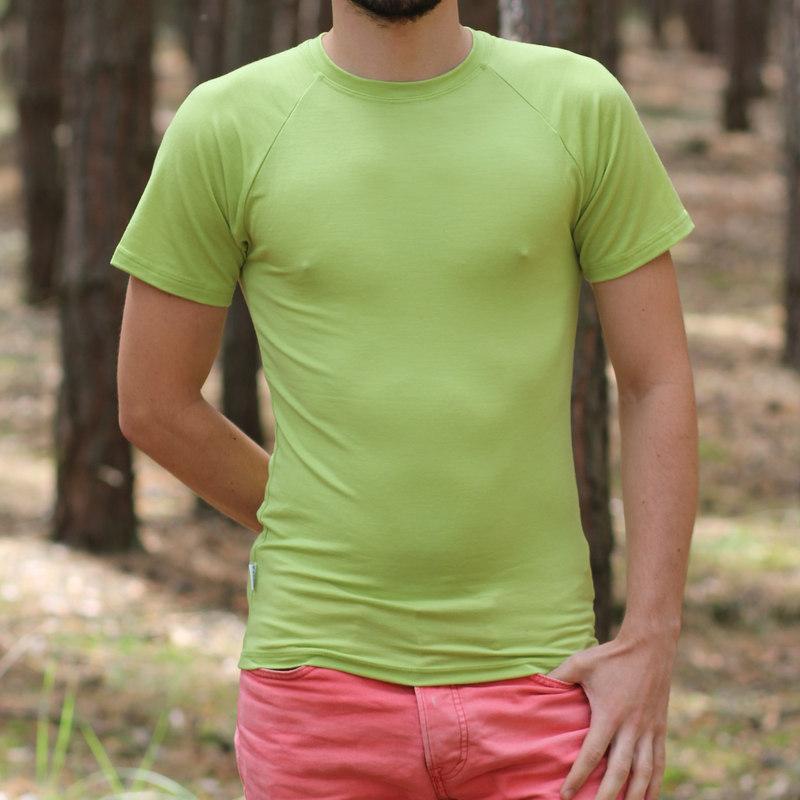 pánske merino tričko s elastánom