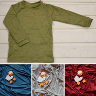 detské funkčné tričko z merino vlny