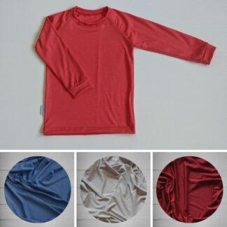 Hladké tričko pre deti z merino vlny