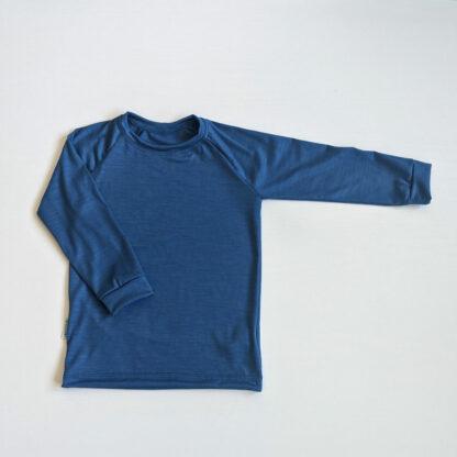 Termo tričko pre deti z vlny modré