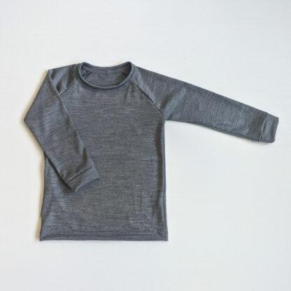 Funkčné merino tričko detské sivý melír