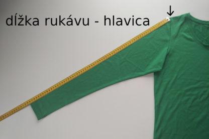 dĺžka hlavicového rukávu - funkčné merino tričko froggywear