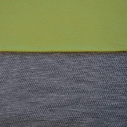 100% merino mesh sivý melír + limetková