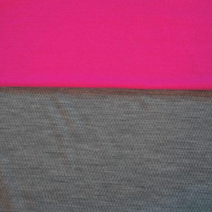 100% merino mesh sivý melír + sýtoružová