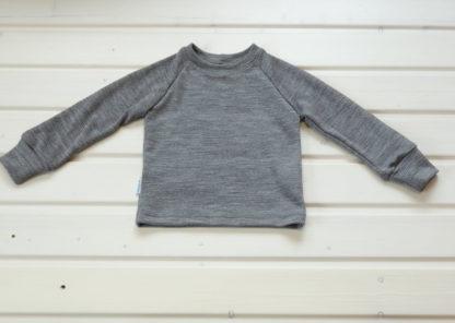 Detské merino tričko Gerlachov - sivý mesh melír