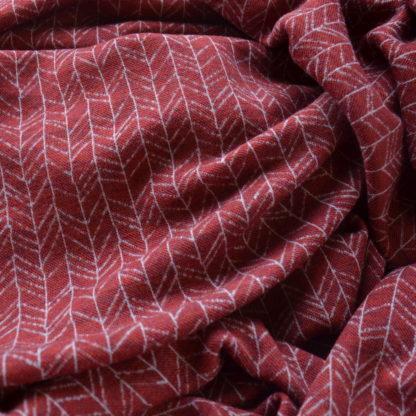 Merino vzor vetvičky červený melír