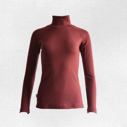 Dámske merino tričko Lehota bordová