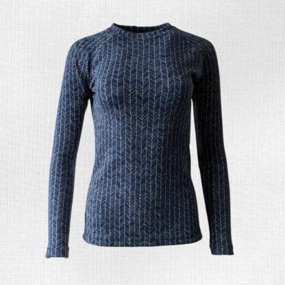 Dámske merino tričko Kokava - modrá