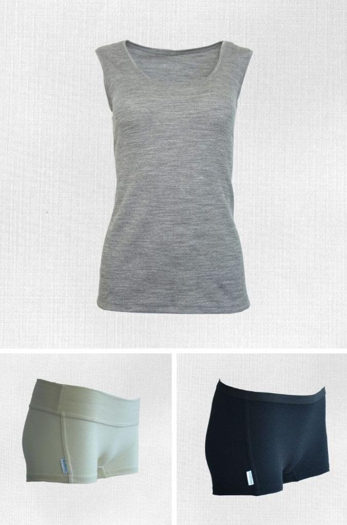 dámske spodné prádlo z merino vlny