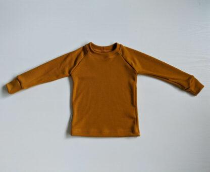 Detské merino tričko Hrádok - horčicová 250g